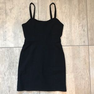 Urban outfitters body con corset shape black dress